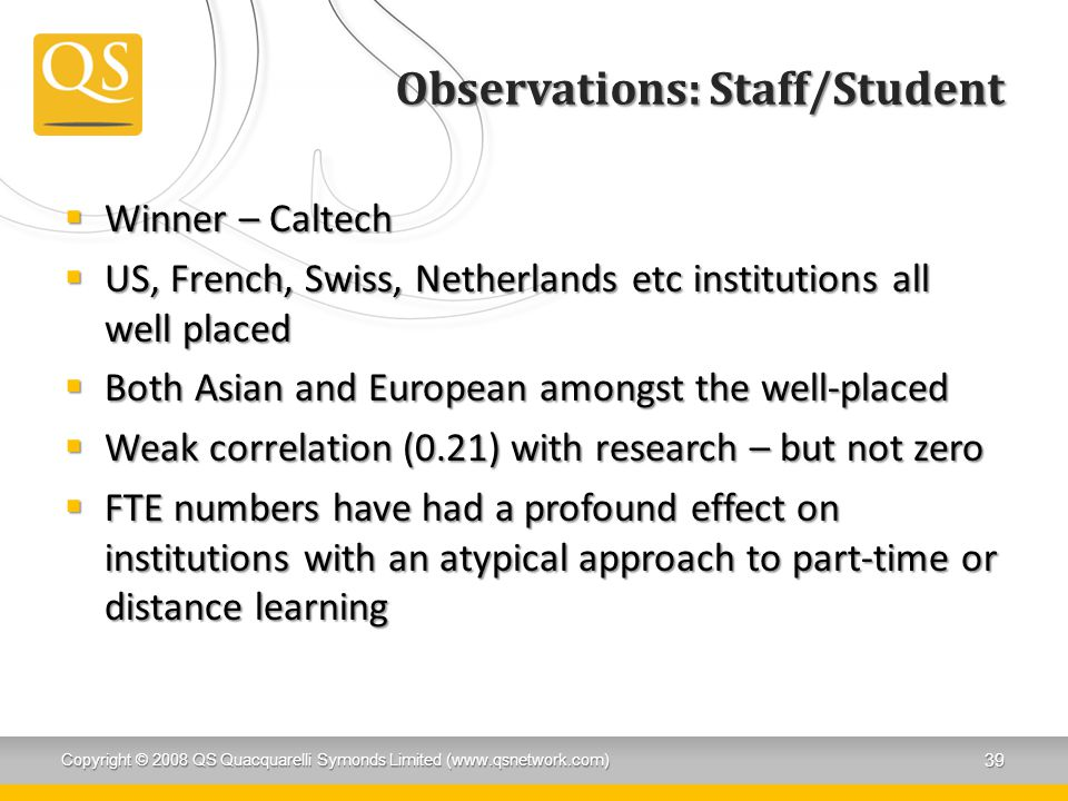Observations: Staff/Student