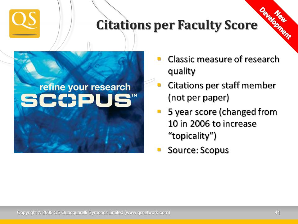 Citations per Faculty Score