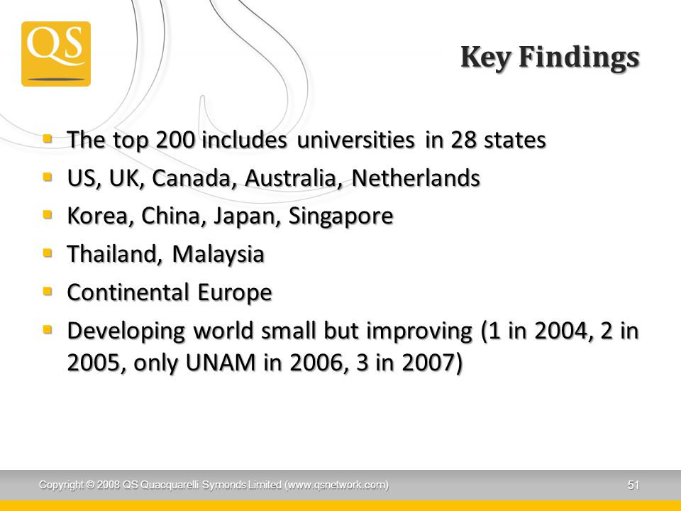 Key Findings The top 200 includes universities in 28 states