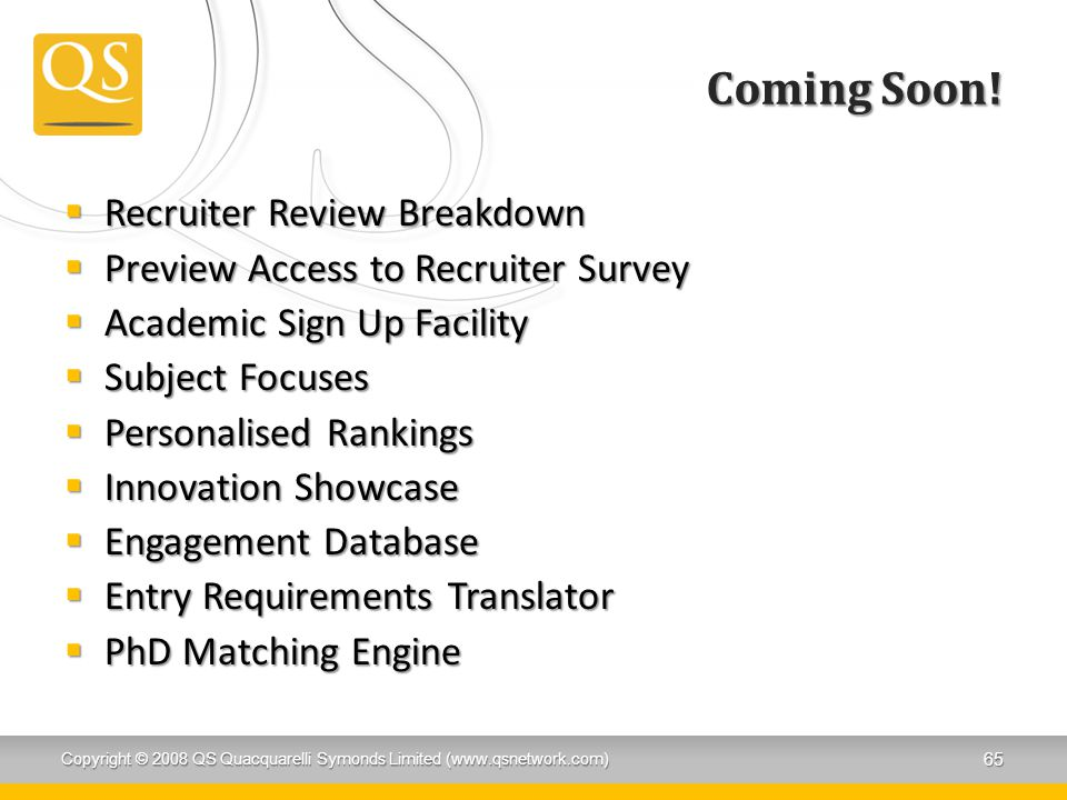 Coming Soon! Recruiter Review Breakdown