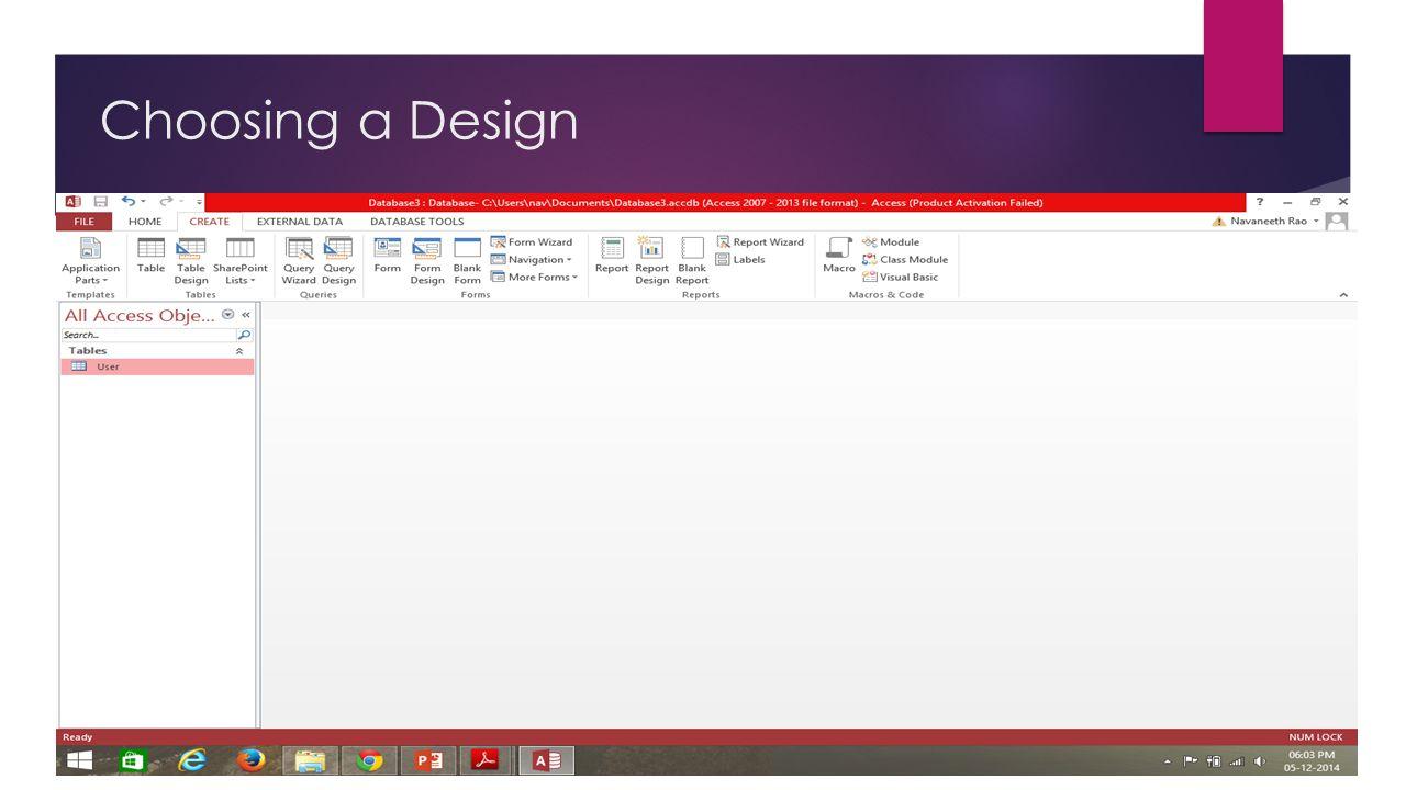 Choosing a Design