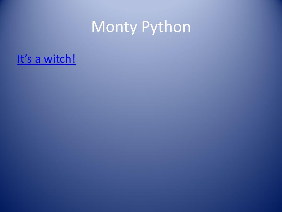 Monty Python It's a witch!