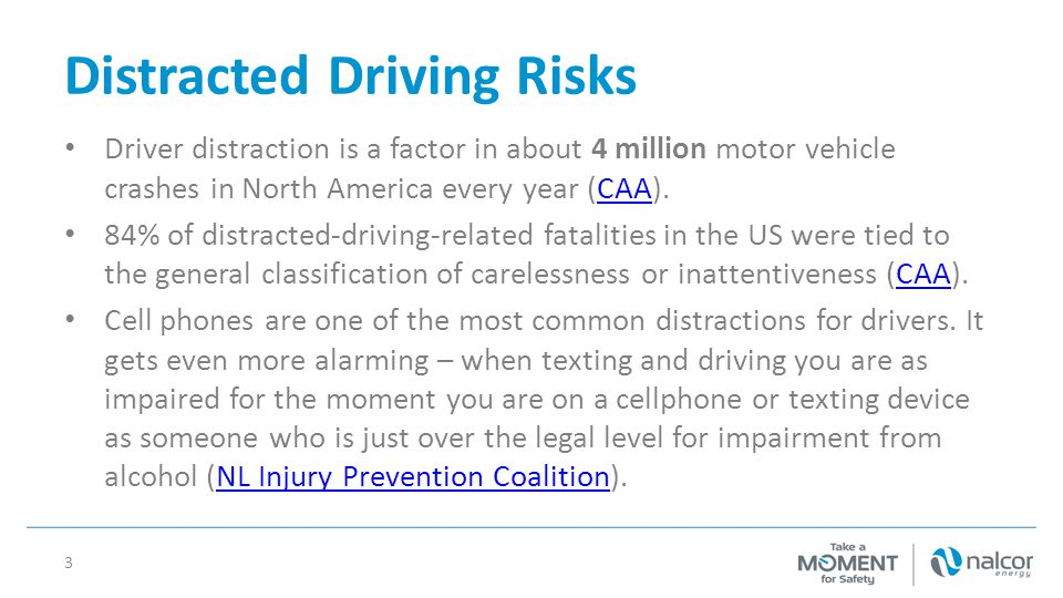 Distracted Driving Risks