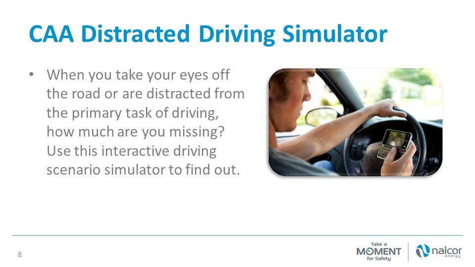 CAA Distracted Driving Simulator
