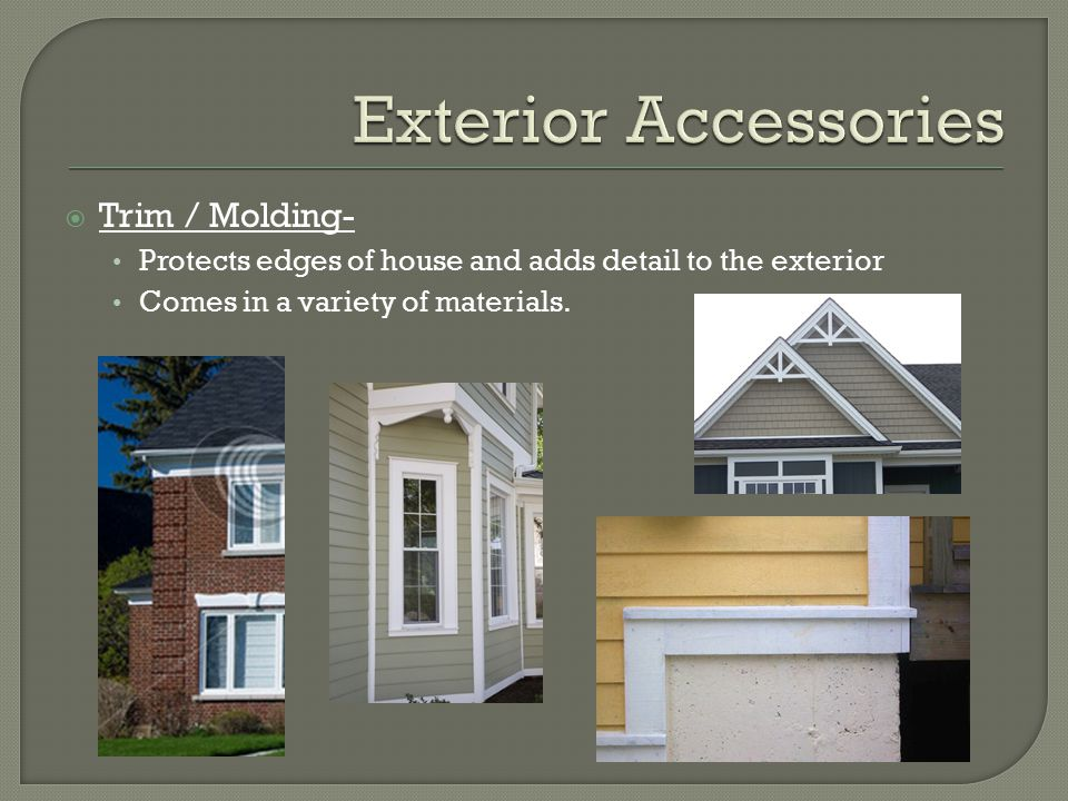 Exterior Accessories Trim / Molding-