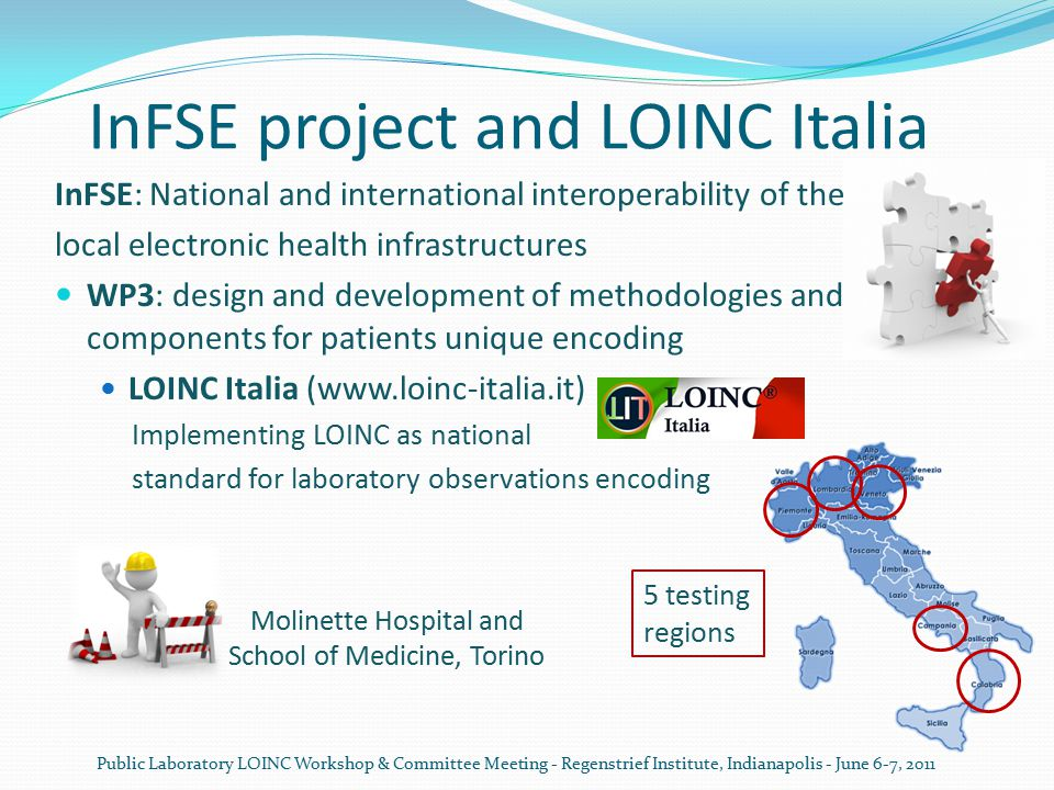 InFSE project and LOINC Italia