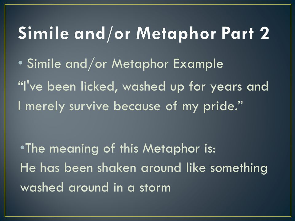 Simile and/or Metaphor Part 2