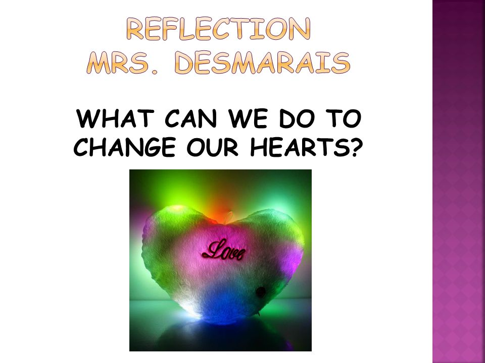 REFLECTION MRS. DESMARAIS