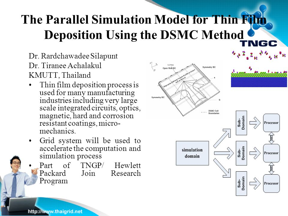 The Parallel Simulation Model for Thin Film Deposition Using the DSMC Method