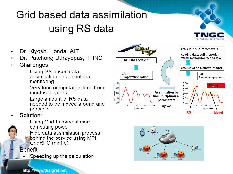 Grid based data assimilation using RS data