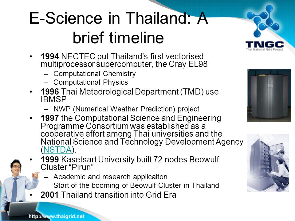 E-Science in Thailand: A brief timeline
