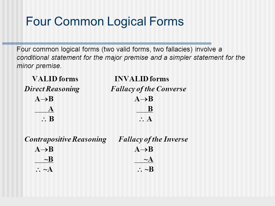 Four Common Logical Forms