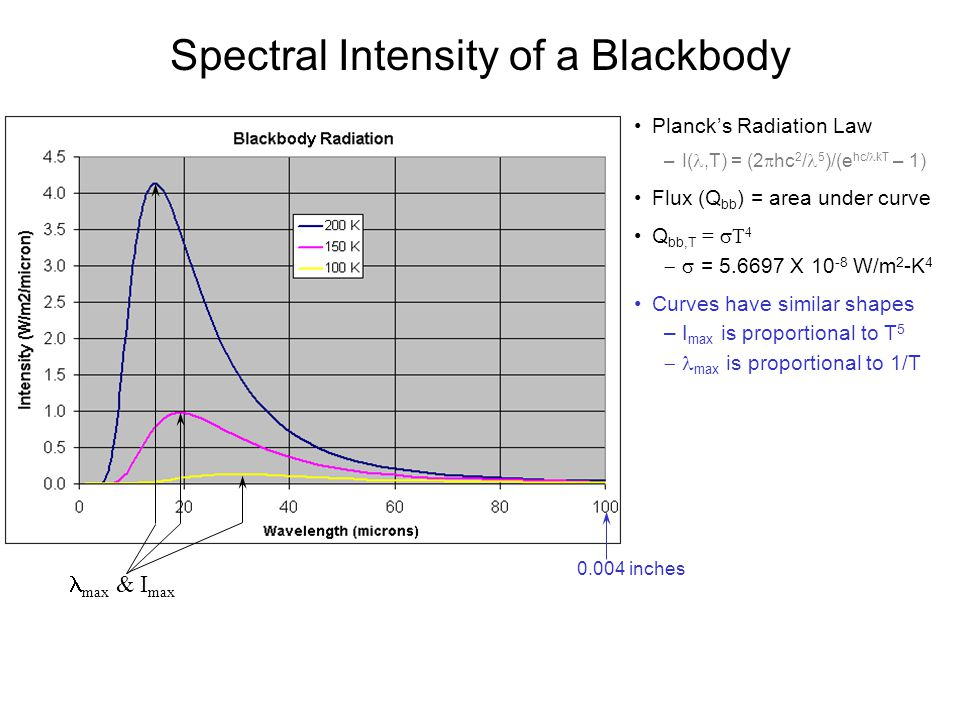 Spectral Intensity of a Blackbody