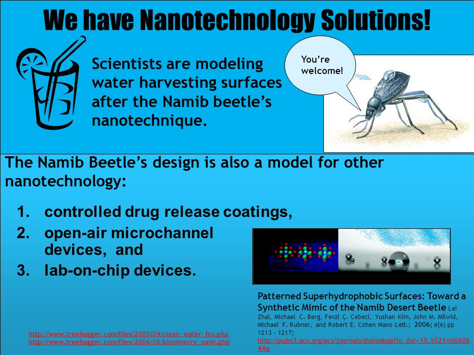 We have Nanotechnology Solutions!