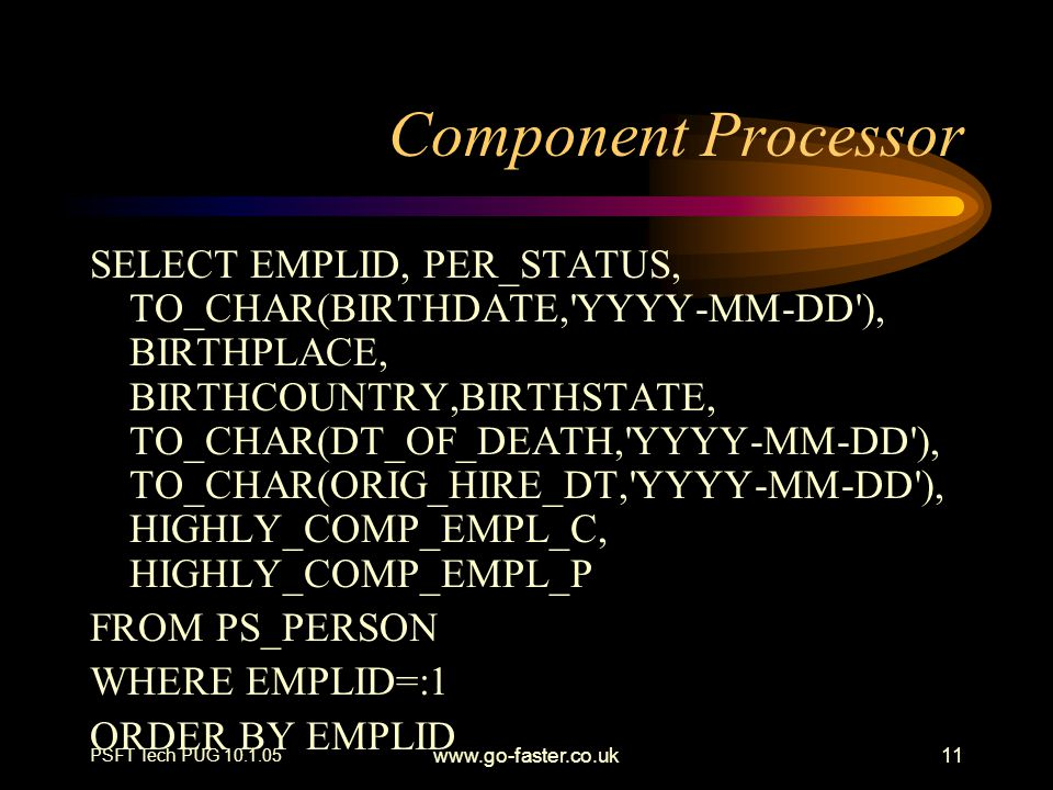 Component Processor