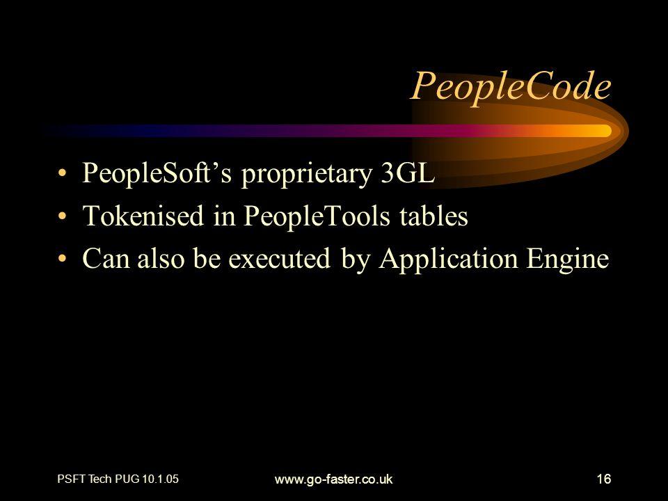 PeopleCode PeopleSoft's proprietary 3GL