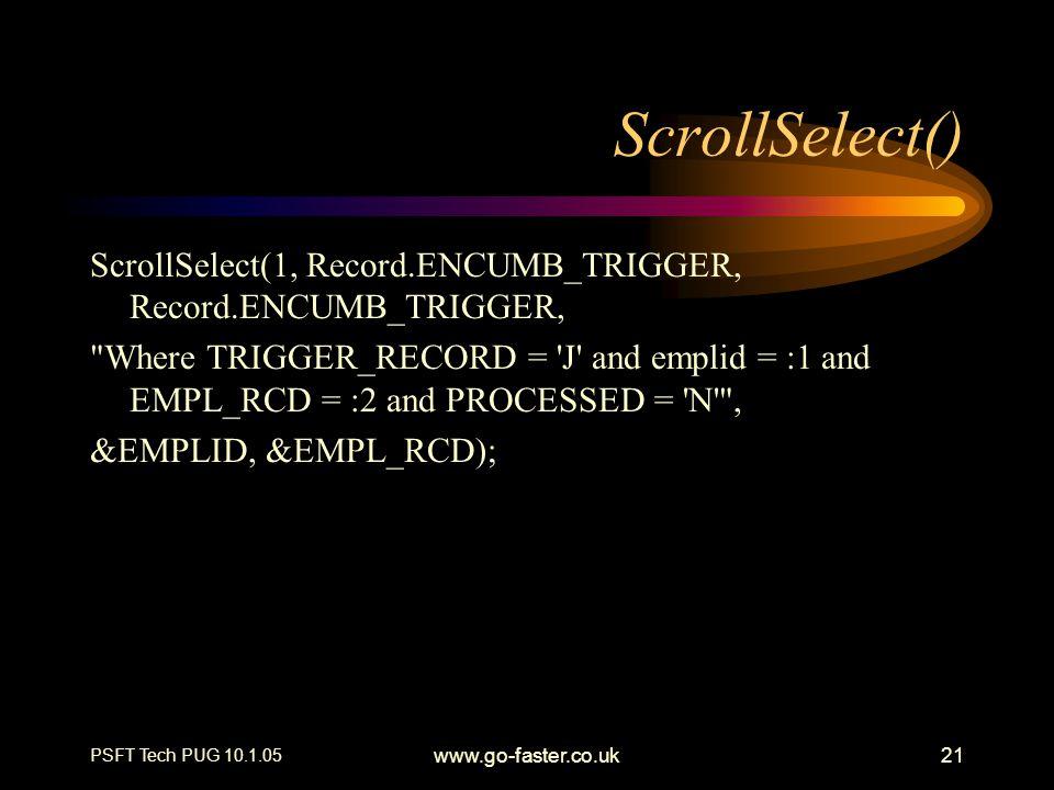 ScrollSelect() ScrollSelect(1, Record.ENCUMB_TRIGGER, Record.ENCUMB_TRIGGER,