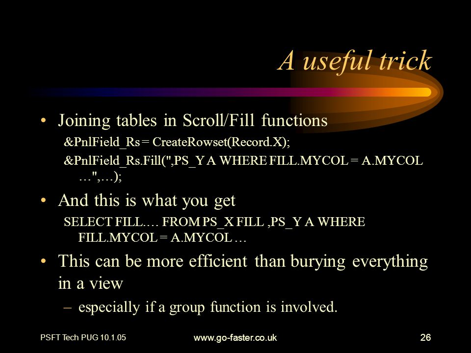 A useful trick Joining tables in Scroll/Fill functions