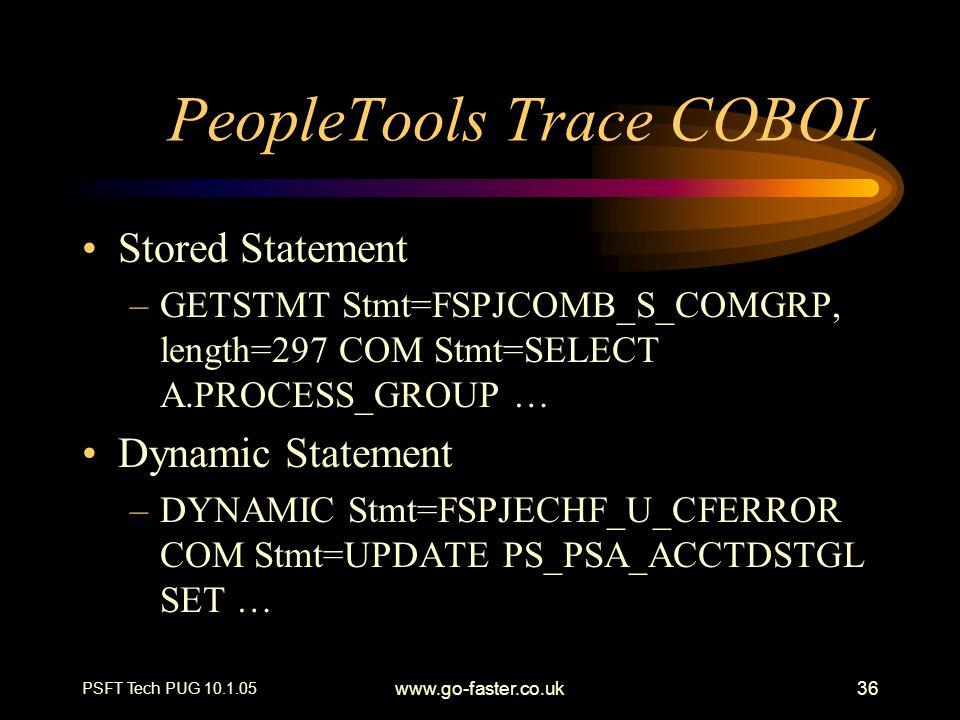 PeopleTools Trace COBOL