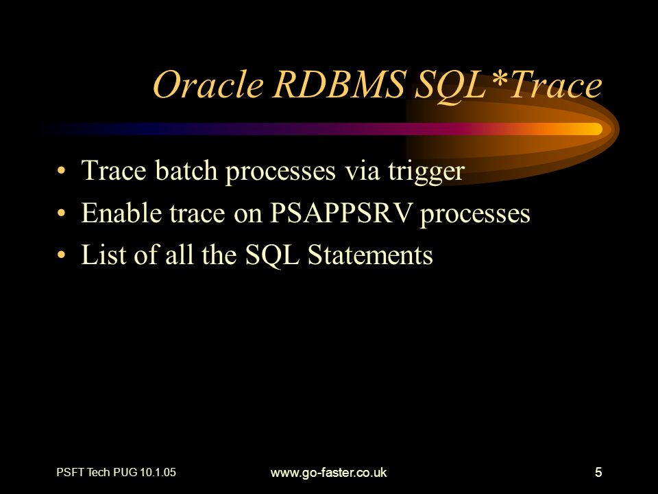 Oracle RDBMS SQL*Trace
