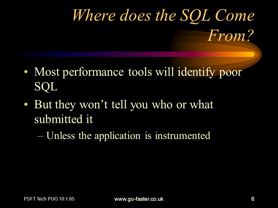 Where does the SQL Come From