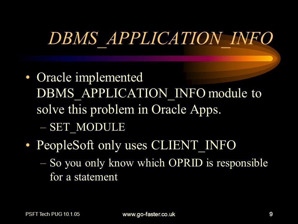 DBMS_APPLICATION_INFO