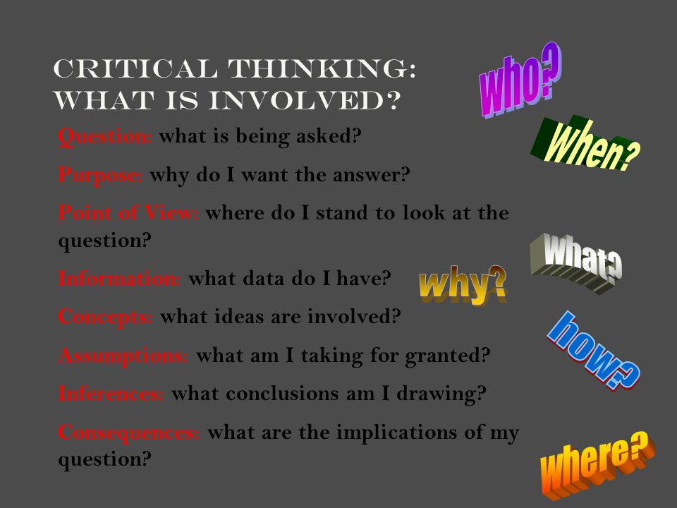 critical thinking is important for academic success 2002, 2003) have been proposing for several decades, that critical thinking and  problem solving are essential skills that foster academic achievement  sections , the importance of the development of higher-order thinking skills (bloom.
