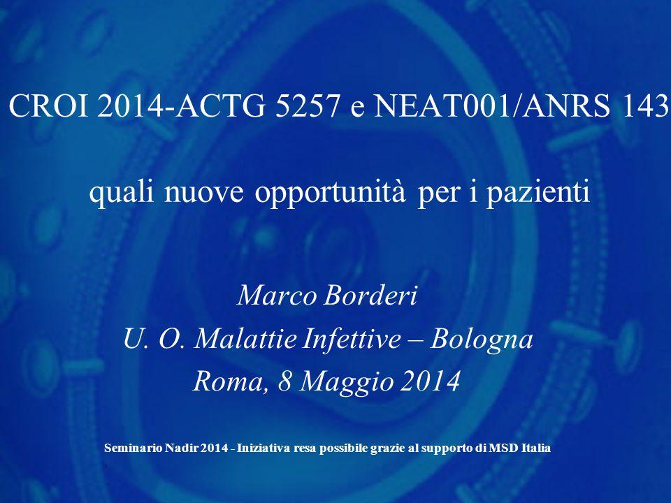 Marco Borderi U. O. Malattie Infettive – Bologna Roma, 8 Maggio 2014