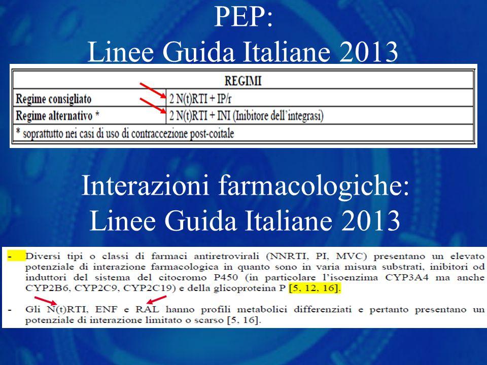 PEP: Linee Guida Italiane 2013