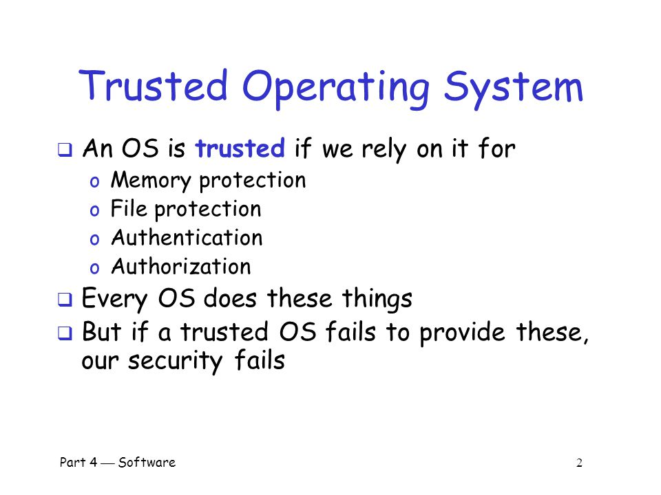 Trusted Operating System