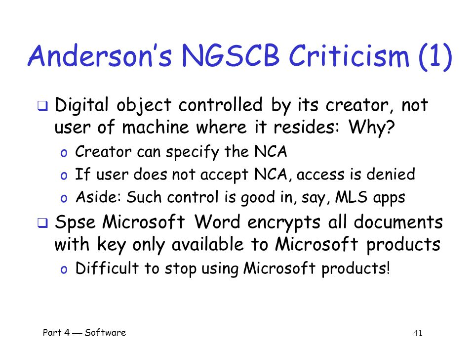 Anderson's NGSCB Criticism (1)