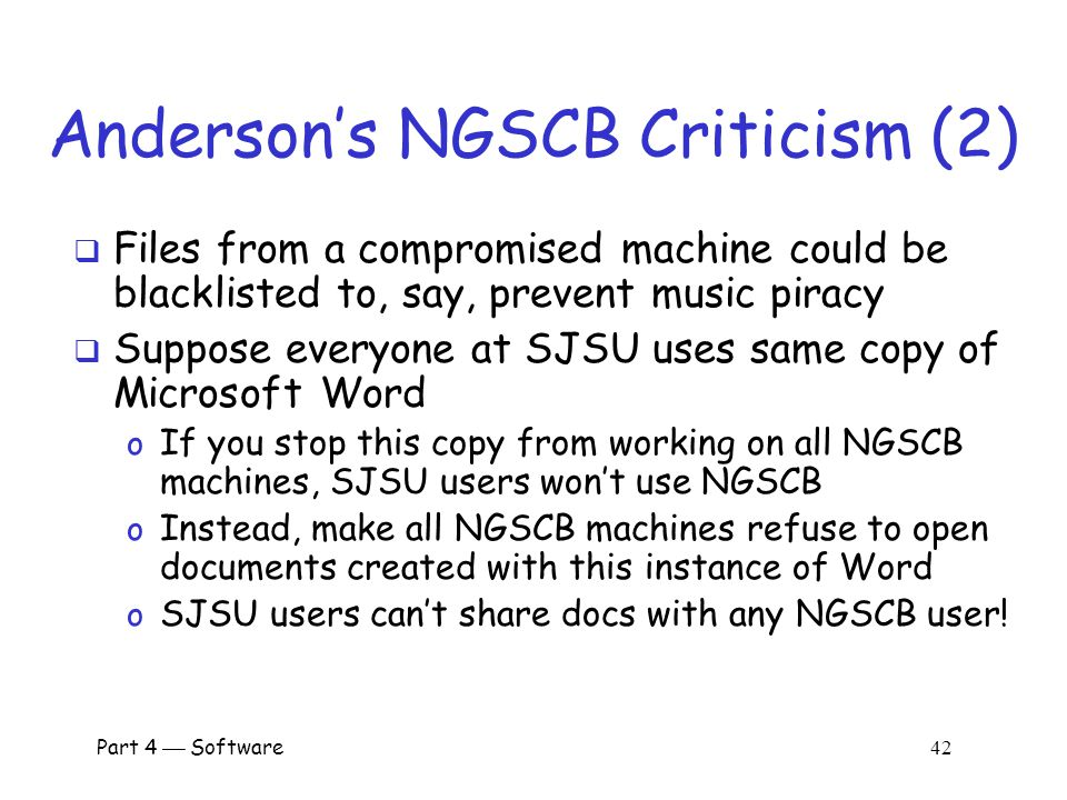 Anderson's NGSCB Criticism (2)