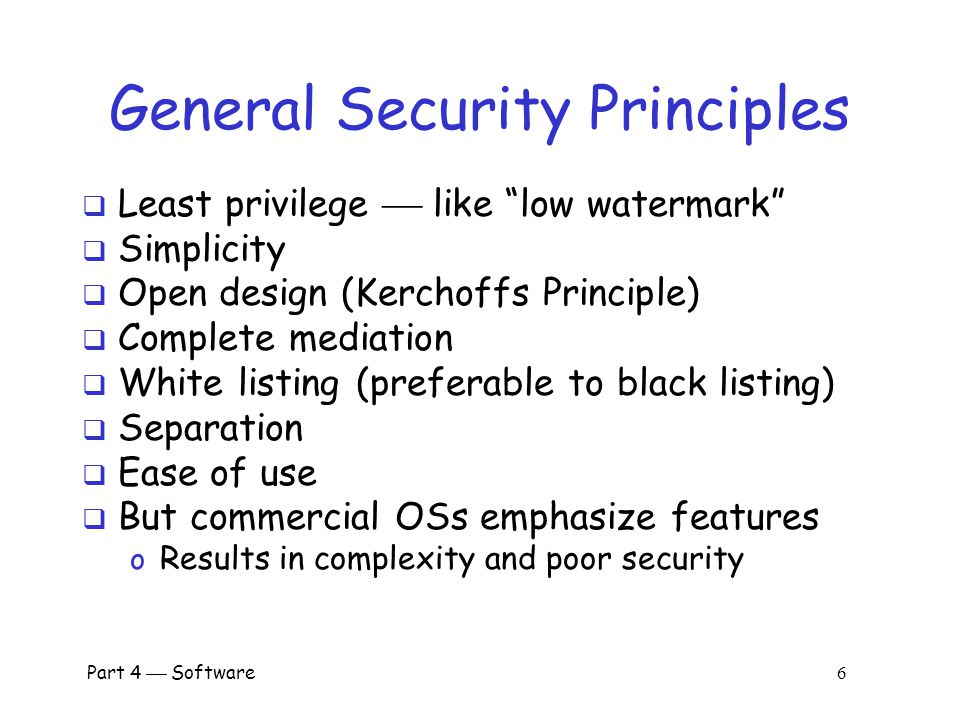 General Security Principles