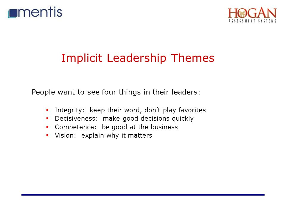 Implicit Leadership Themes