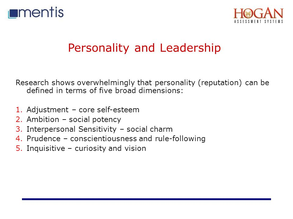 Personality and Leadership