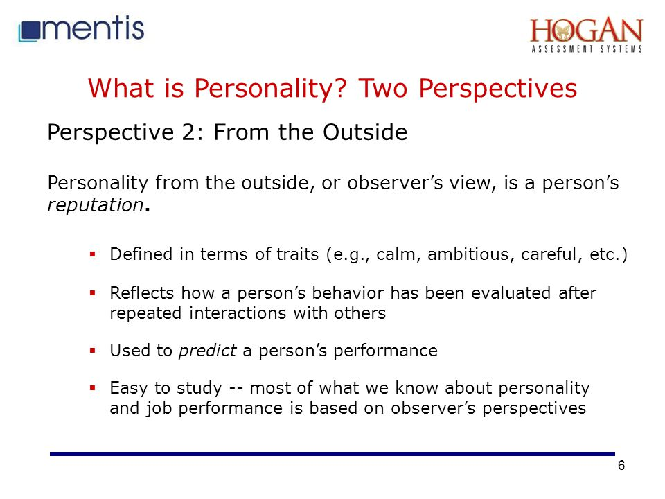 What is Personality Two Perspectives