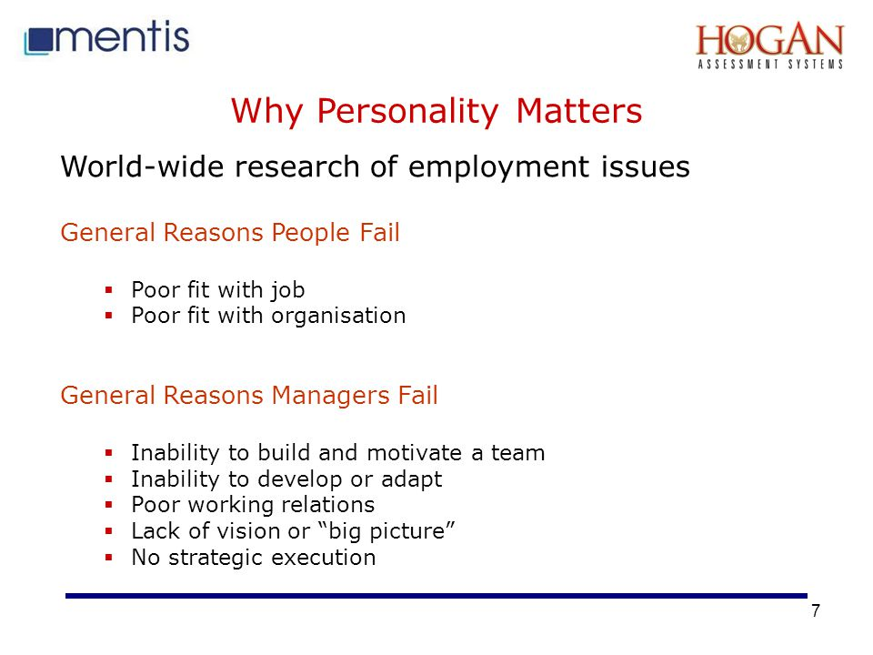 Why Personality Matters