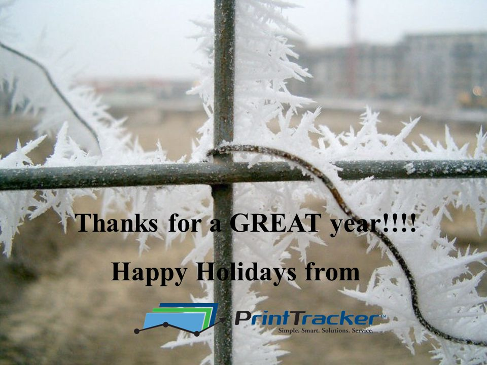 Thanks for a GREAT year!!!! Happy Holidays from