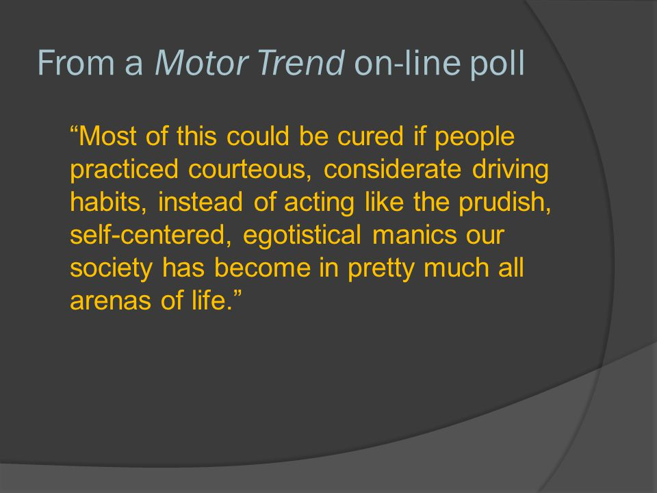 From a Motor Trend on-line poll