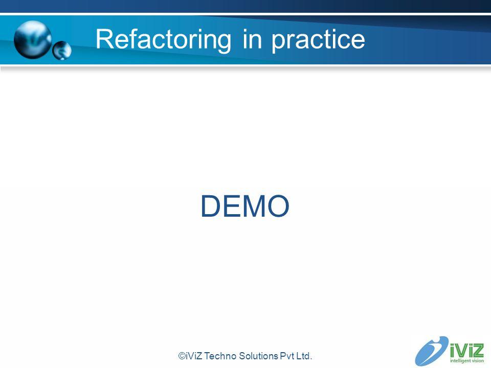Refactoring in practice