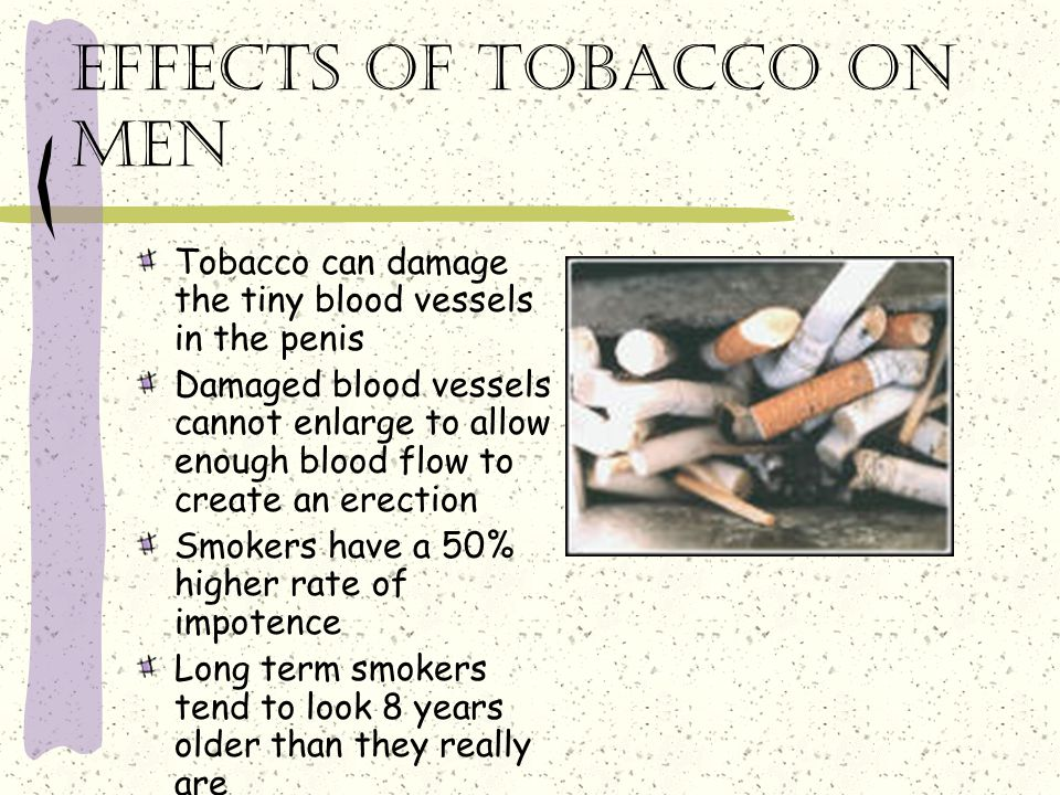Effects of tobacco on men
