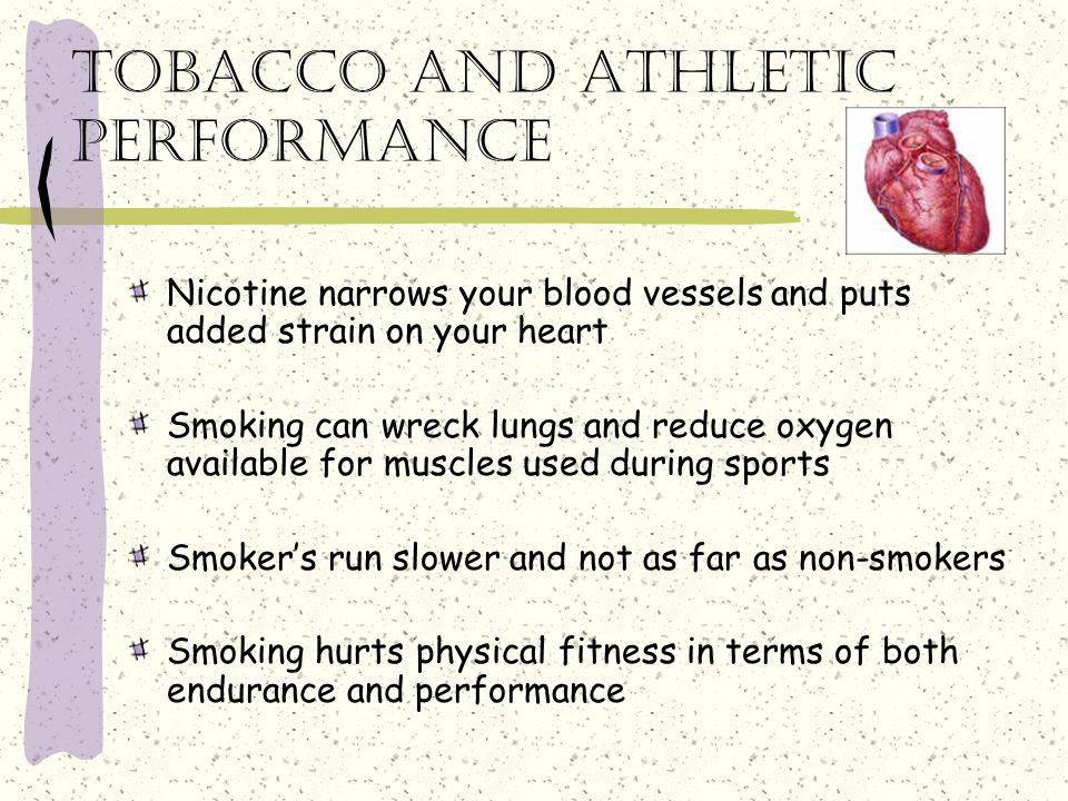 Tobacco and athletic performance