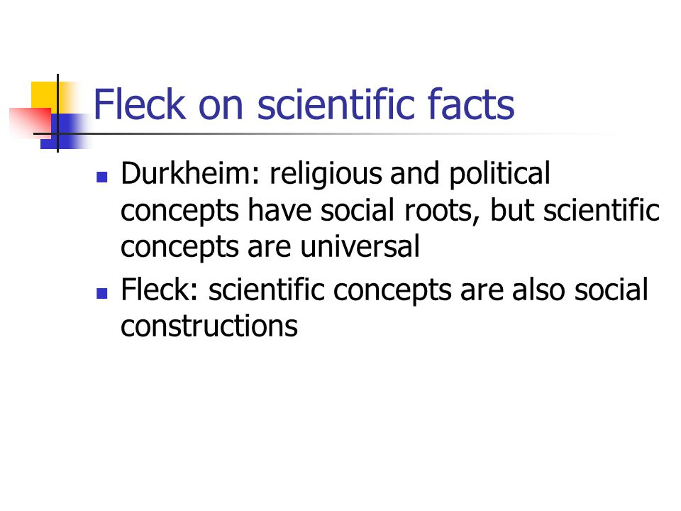 Fleck on scientific facts