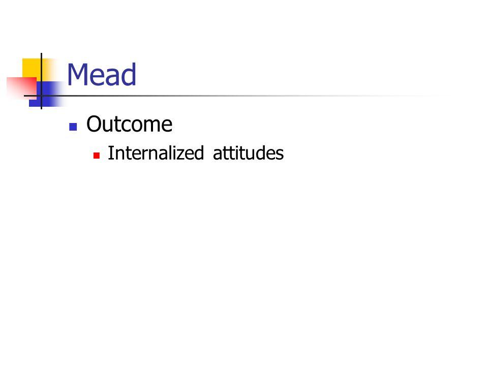 Mead Outcome Internalized attitudes
