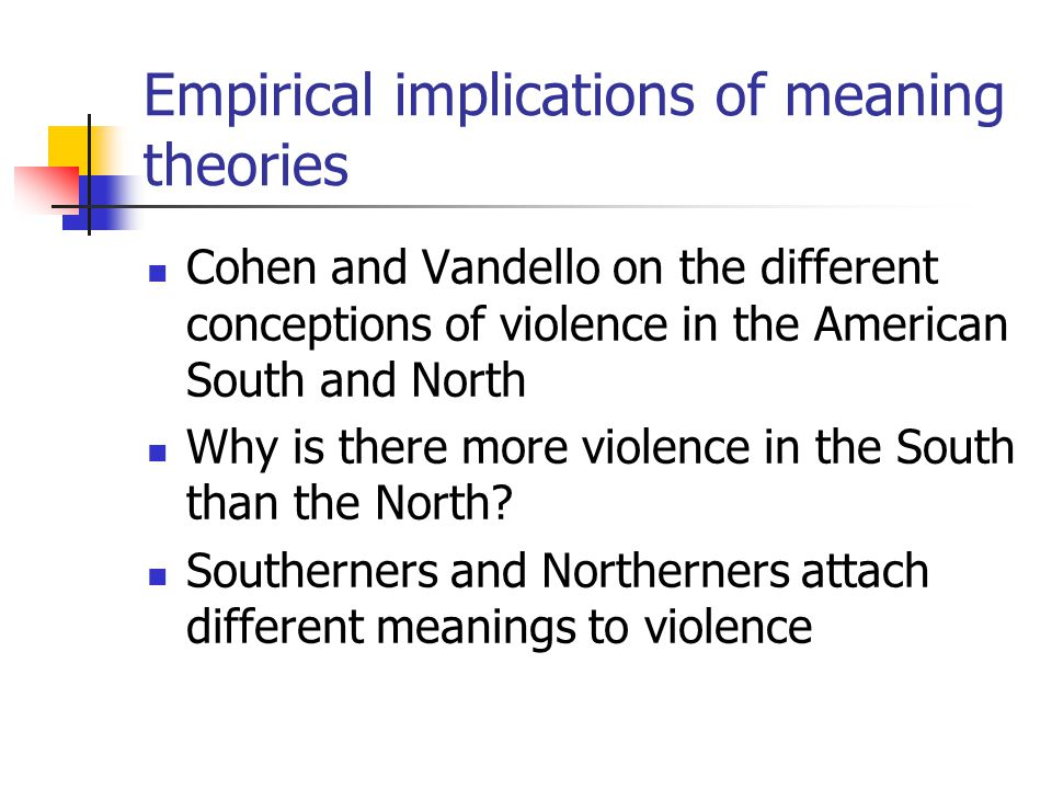 Empirical implications of meaning theories