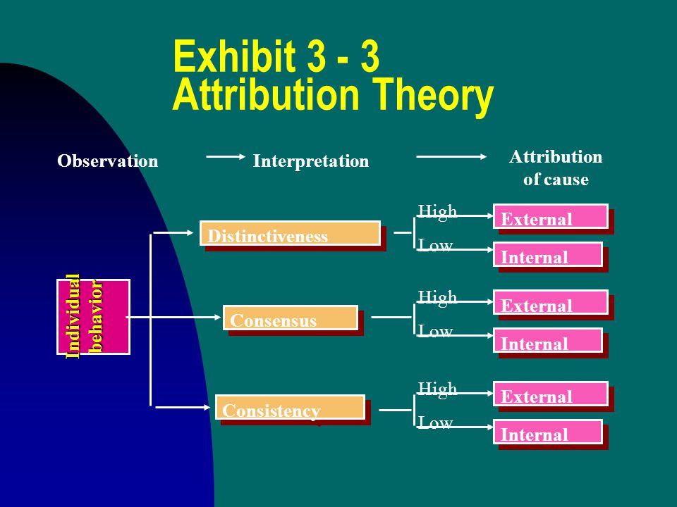 Exhibit 3 - 3 Attribution Theory
