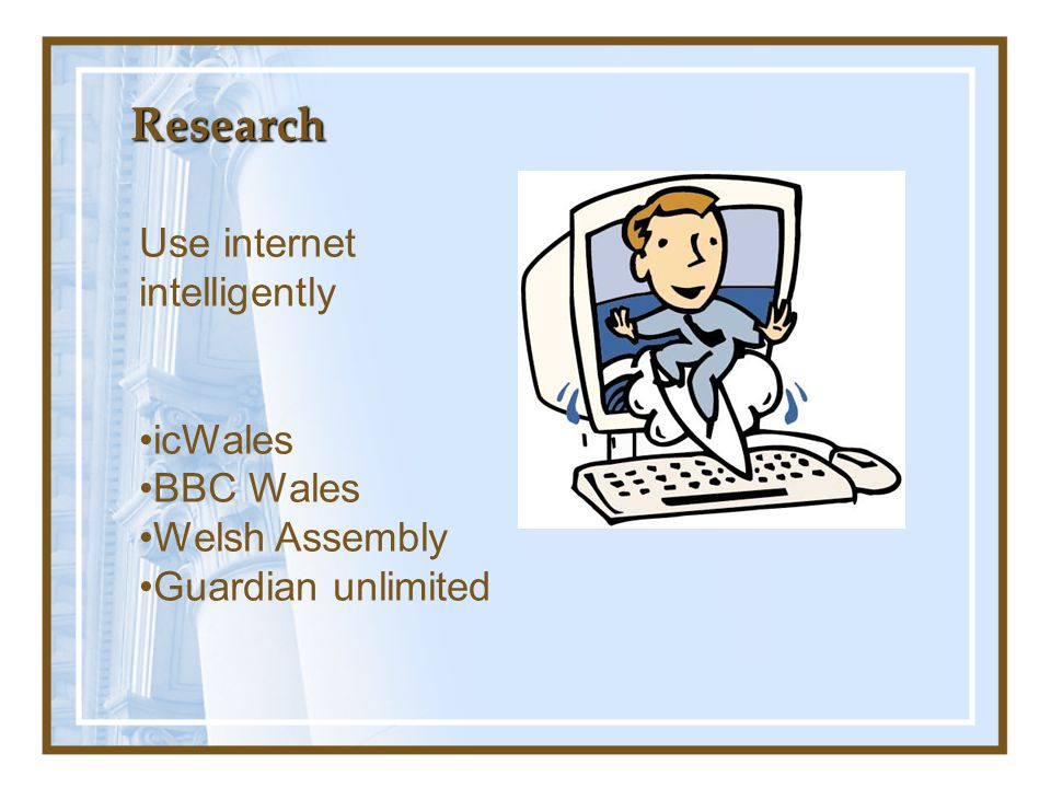 Research Use internet intelligently icWales BBC Wales Welsh Assembly
