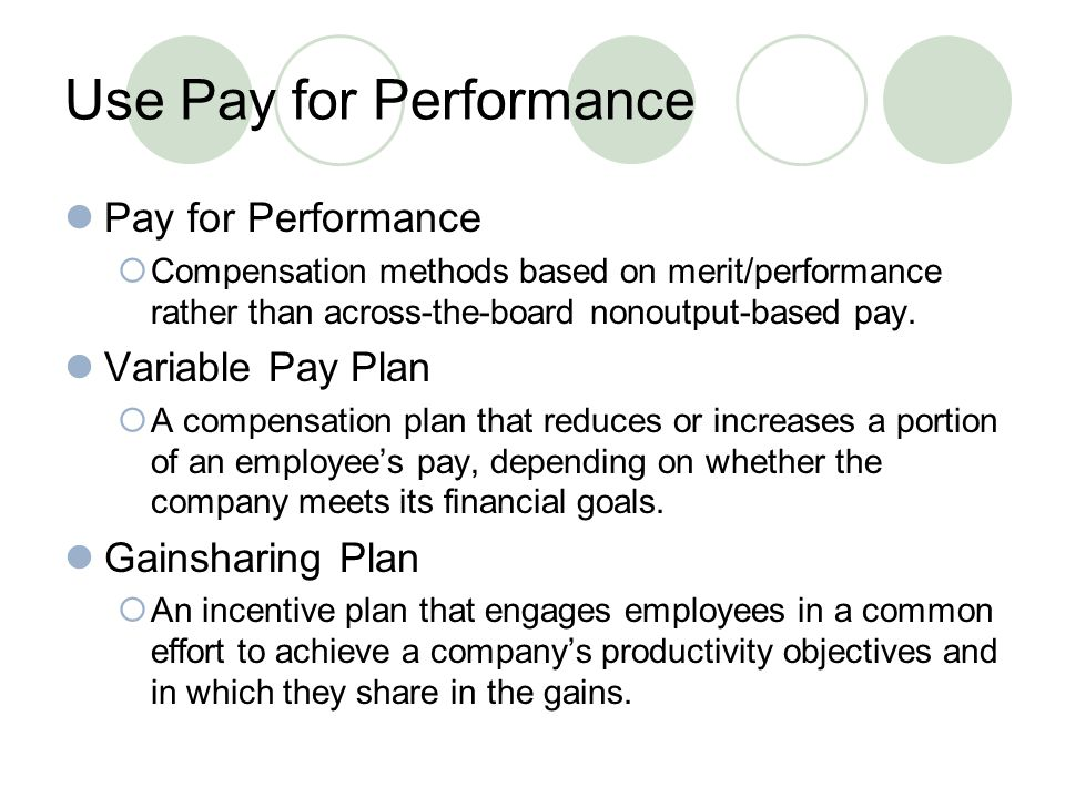 The use of merit and pay incentives to increase work productivity