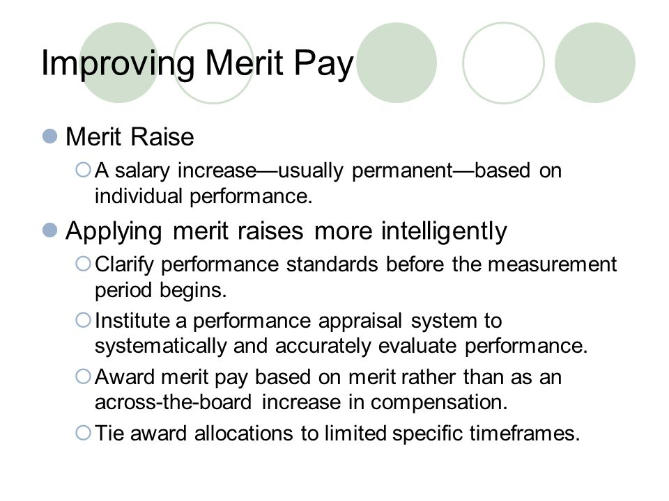Improving Merit Pay Merit Raise