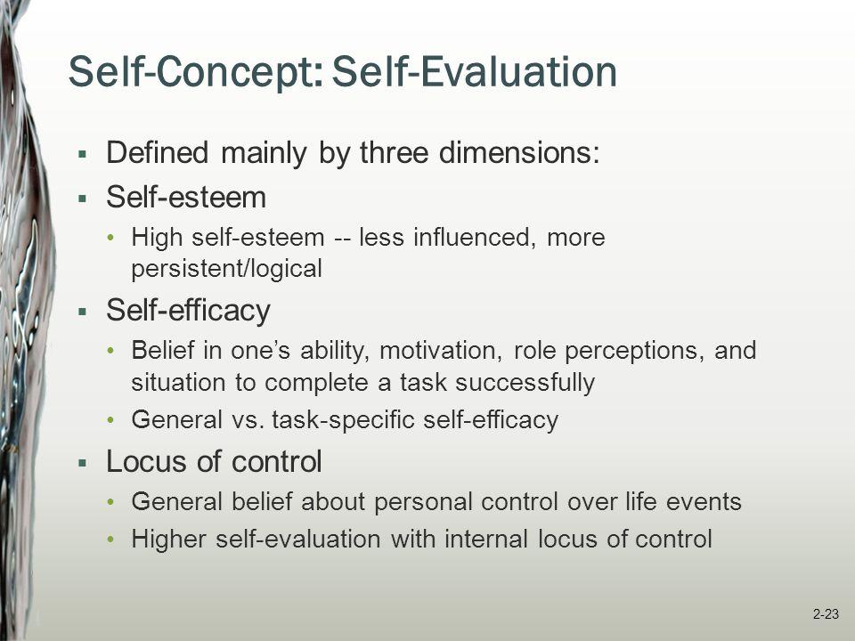 Self-Concept: Self-Evaluation